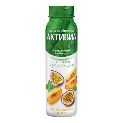 Питьевой биойогурт Активиа персик-маракуйя-мята 2,1% 260 г
