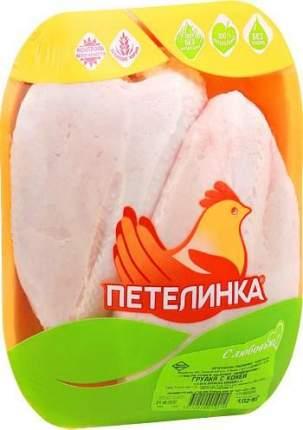 Грудка куриная с кожей Петелинка охлажденная ~6 кг