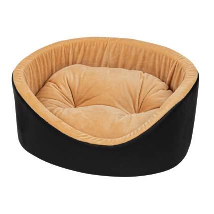 Лежанка для животных Xody Премиум №0 из экокожи, черная