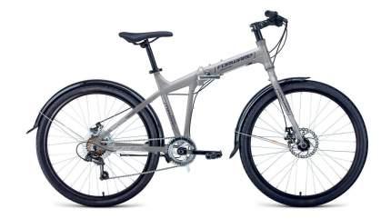 "Велосипед Forward Tracer 26 2.0 Disc 2021 19"" серый/синий"
