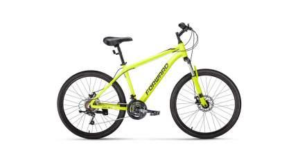 """Велосипед Forward Hardi 26 2.0 disc 2021 17"""" ярко-желтый/черный"""