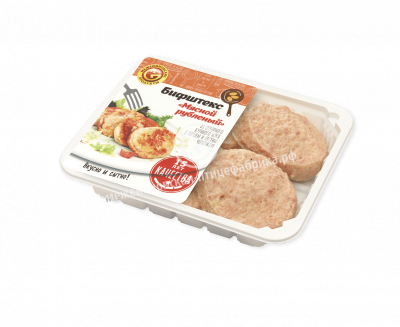 Бифштекс мясной рубленый Межениновская птицефабрика замороженный 500 г