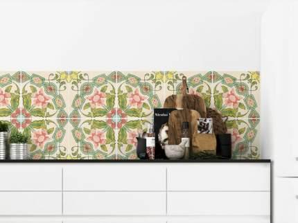 """Наклейка на стену PAINTINGSTOCK Плитка с растительным узором """"Голландия"""" 40 шт.15х15 см"""