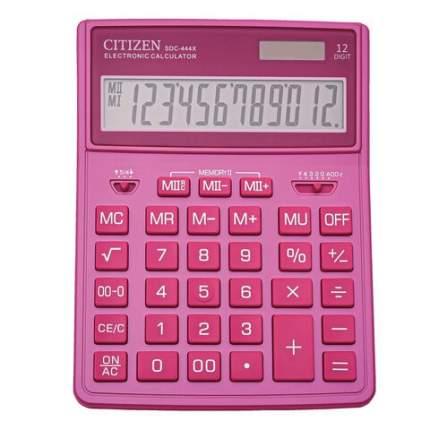 Калькулятор настольный CITIZEN SDC-444PKE 204х155 мм 12 разрядов двойное питание РОЗОВЫЙ
