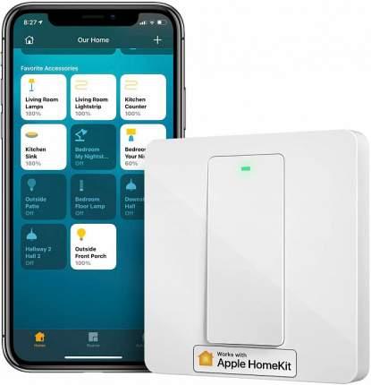 Умный выключатель Meross Smart Switch Physical Button MSS510HK (White)