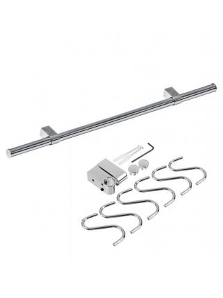 Набор рейлинга для кухни (труба 80 см, 6 крючков, 2 держателя и 2 заглушки)
