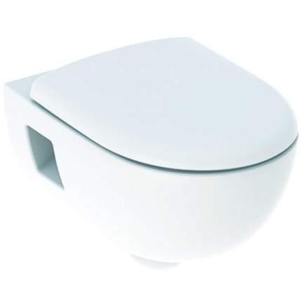 Унитаз подвесной с крышкой-сиденьем микролифт Geberit Renova 500.800.00.1