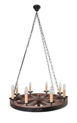 """Люстра подвесная """"Айвенго"""", 8хЕ14х40Вт, состаренное дерево, Дубравия, 051-64-18"""