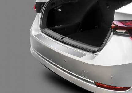 Накладка на задний бампер Rival для Skoda Octavia A8 лифтбек 2020-, нерж. сталь, NB.5110.1