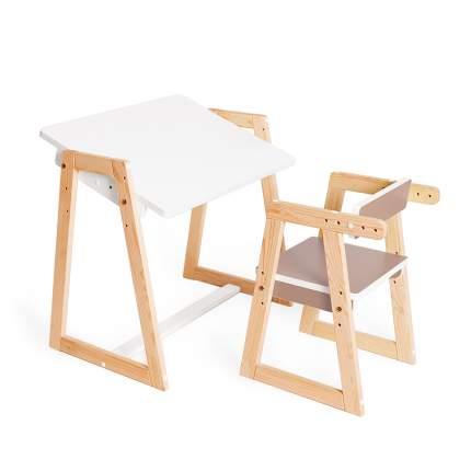 Детская растущая парта и стул Я САМ Краски, цвет Капучино