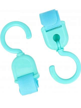 Крючки для пакетов на ленте-липучке, Markethot, 2 шт. (Голубой )