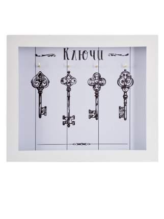 """Ключница настенная """"Ключи декоративные 3"""", 22х26 см, массив дерева, Дубравия, KRI-012-KK"""