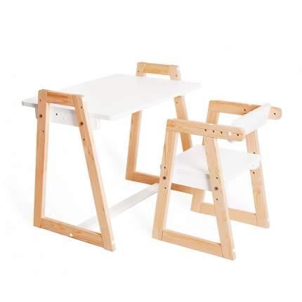 Детская растущая парта и стул Я САМ Лофт, цвет Белый