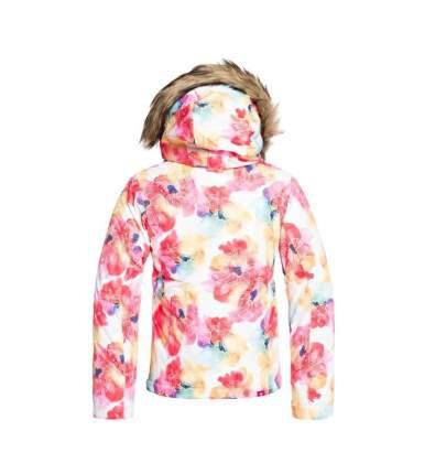 Куртка Сноубордическая Roxy 2019-20 Jet Ski Girl Bright White Sunshine Flowers (Eur:8/S)