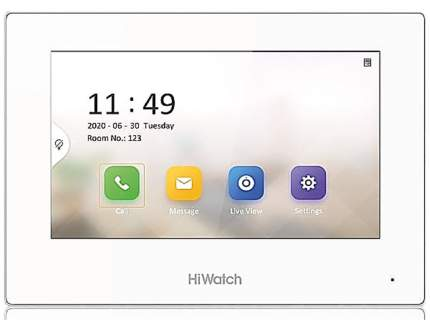 Монитор IP-видеодомофона HiWatch DS-D100IMWF