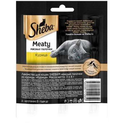Лакомство для кошек Sheba  Meaty Мясные палочки, Курица, 12г