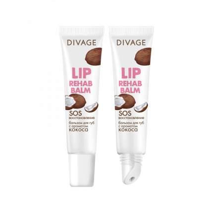 Бальзам для губ Divage lip rehab balm с ароматом кокоса