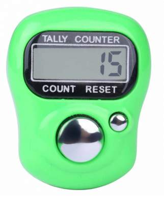 Электронный счетчик нажатий на кнопку (Цвет: Зеленый  )