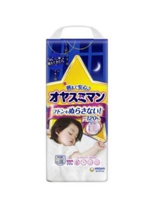 Трусики-подгузники Moony для девочек, ночные, размер XXL, от 13 до 28 кг, 22 шт