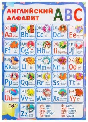 Английский алфавит. Плакат ламинированный двусторонний