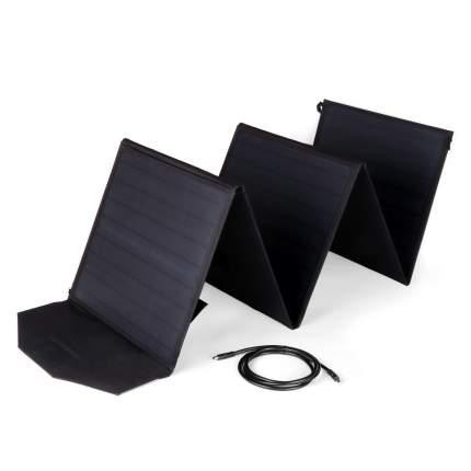Солнечная панель TOP-SOLAR (100W, 18V, DC, 2 USB) влагозащищенная, складная на 5 секций