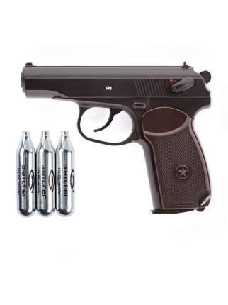 Пистолет пневматический Gletcher PM + 3 баллона CO2