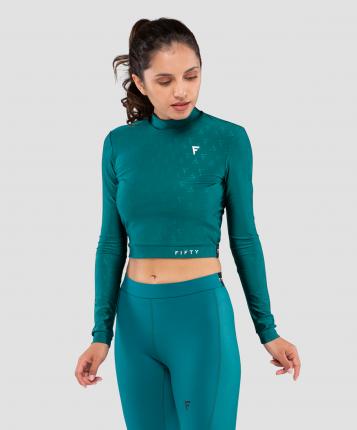 FIFTY Женская футболка с длинным рукавом Majesty  emerald FA-WL-0201-EML, изумрудный - S