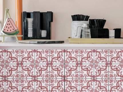 """Наклейка на мебель PAINTINGSTOCK Плитка с растительным узором """"Голландия"""" 12 шт. 15х15 см"""