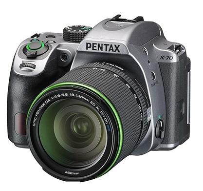 Фотоаппарат зеркальный Pentax K-70 DA 18-135WR Silky Silver