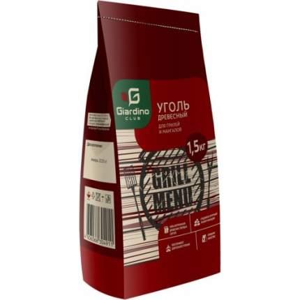 Уголь Giardino Club Premium древесный березовый 1,5 кг