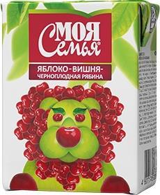 Нектар Моя Семья вишня-яблоко-черноплодная рябина
