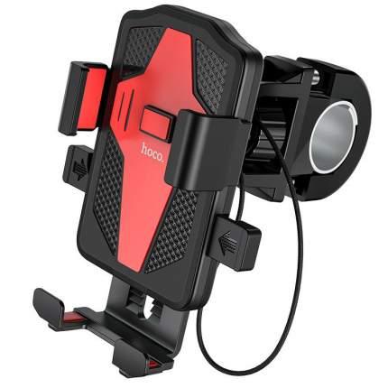 Держатель для телефона на велосипед, мопед, мотоцикл Hoco CA73 - Черный/Красный