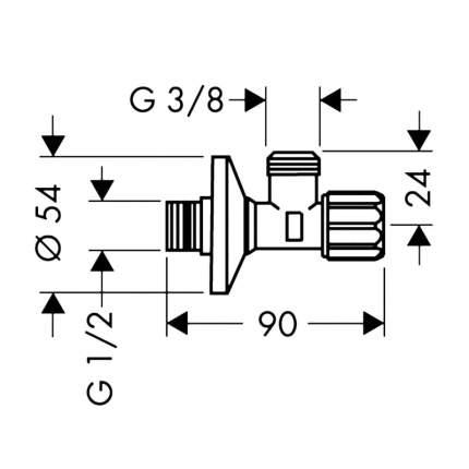 Вентиль угловой с микрофильтром Hansgrohe 13904000