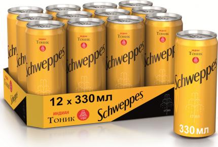 Газированный напиток Schweppes Indian Tonic 0,33 л