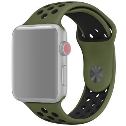 Ремешок InnoZone APWTSIH42-30 для Apple Watch 1-6/SE  42/44 мм  Армейский Зеленый/Черный