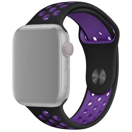 Ремешок InnoZone APWTSIH38-06 для Apple Watch 1-6/SE  38/40 мм  Черный/Фиолетовый