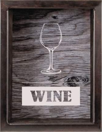 "Копилка для винных пробок ""Вино"", 22x26 см, массив дерева, венге, Дубравия, KRI-027-SW"