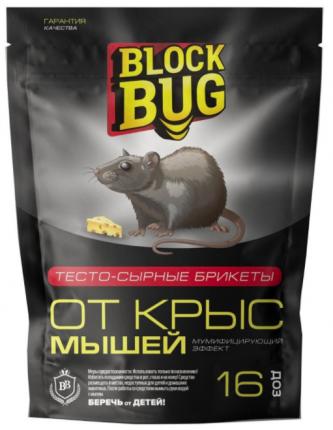 Средство от грызунов Block Bug Тесто-сырные брикеты 54022 150 г