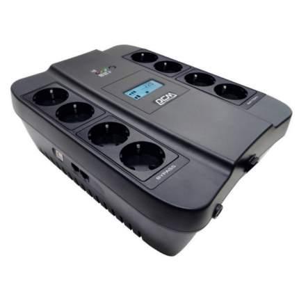 Источник бесперебойного питания Powercom SPD-750U LCD Black