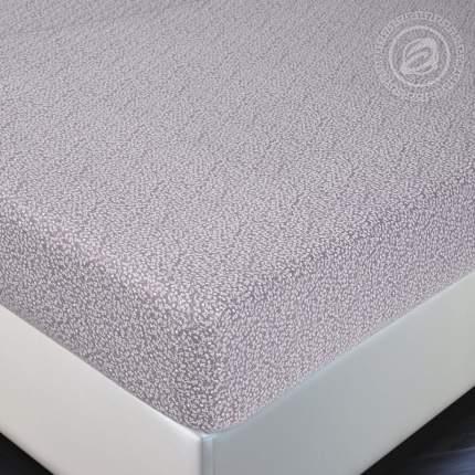 Простынь на резинке 90х200 (борт 20 см) трикотажная Лоза капучино АРТПОСТЕЛЬ