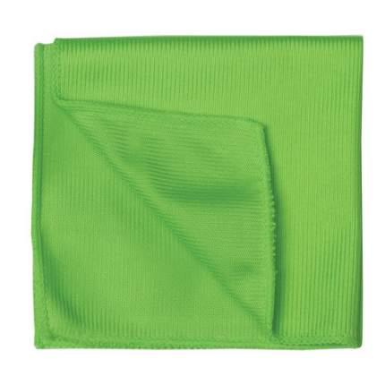 Салфетка из микрофибры для стёкол и зеркал, 30х40 см (Цвет: Зеленый  )