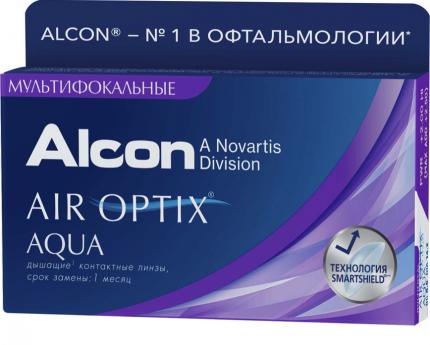 Контактные линзы Alcon Air Optix Aqua Multifocal, -8.25, add LOW