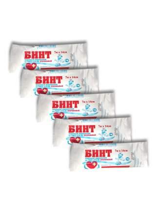 Комплект Бинт марлевый медицинский стерильный 7м х 14см 32 г/м2 х 5 шт.