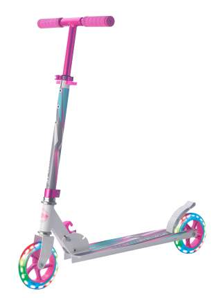 Самокат Sportsbaby Street Art MS-140 розовый со светящимися колесами