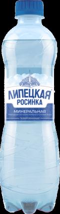 Вода минеральная Липецкая Росинка газированная лечебно-столовая 0,5 л