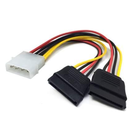 Адаптер VCOM Molex-2xSATA 15 pin, M-M 0,17м Black