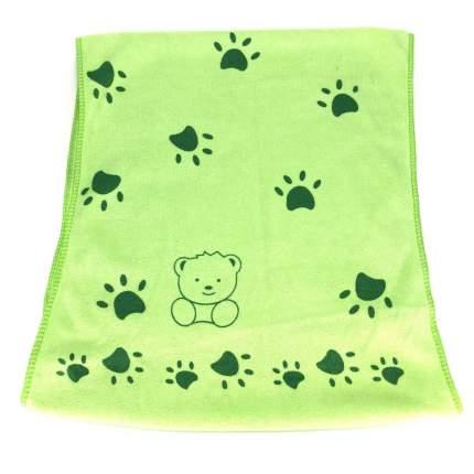 Полотенце для лица (микрофибра), 75х35 см (Зеленый )