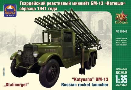 Сборная модель ARK-models Советский гвардейский реактивный миномет БМ-13 Катюша 35040