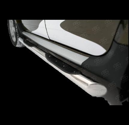 Пороги труба d76 с накладкой (вариант 1) для RENAULT Duster 2015