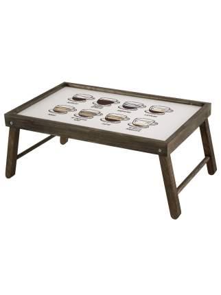 "Столик для завтрака ""Сорта кофе"" 59х32,5х22 см, махагон, Дубравия, KRK-012-BT"
